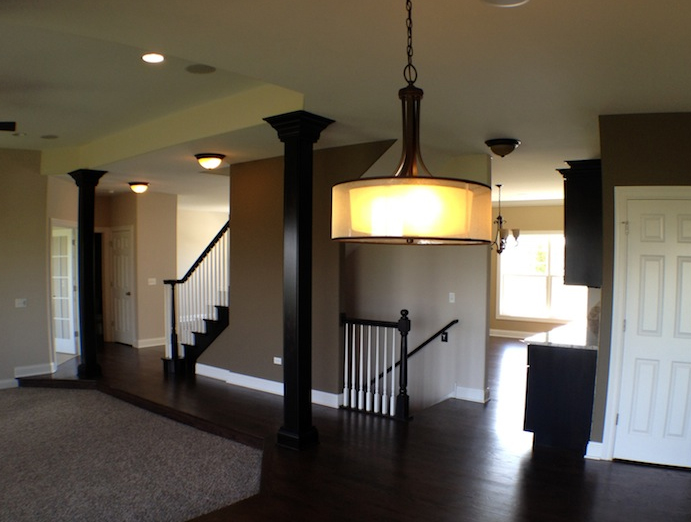 Great room in the Karson custom floorplan, Stewart Ridge, Plainfield, IL
