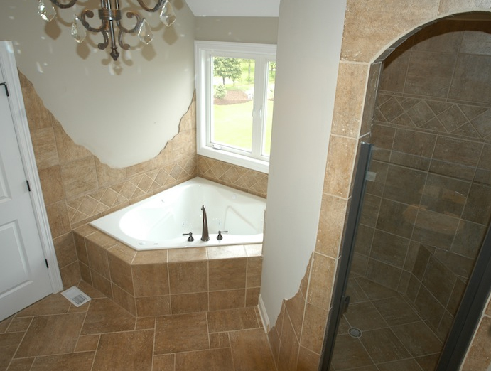 Alternate custom master bath, Karson floorplan, Plainfield, IL