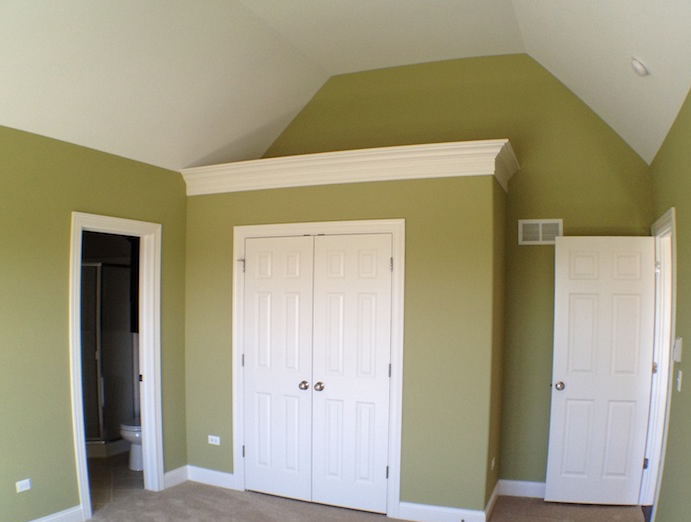 Master bedroom, Karson custom floorplan, Stewart Ridge, Plainfield, IL