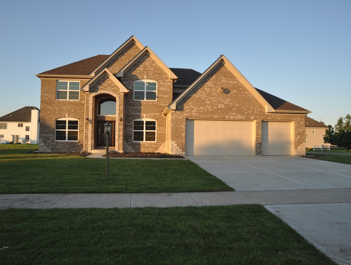 Custom home using the Karson floorplan, alternate layout exterior view