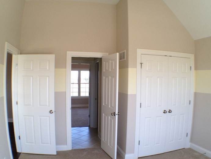 Image of upstairs bedrooms in the Karson custom floorplan