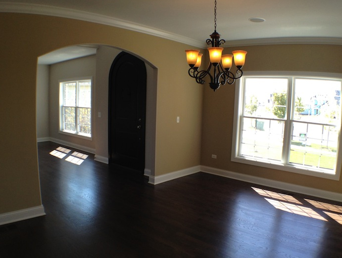 Custom living and dining room, Karson floorplan, Stewart Ridge, Plainfield, IL