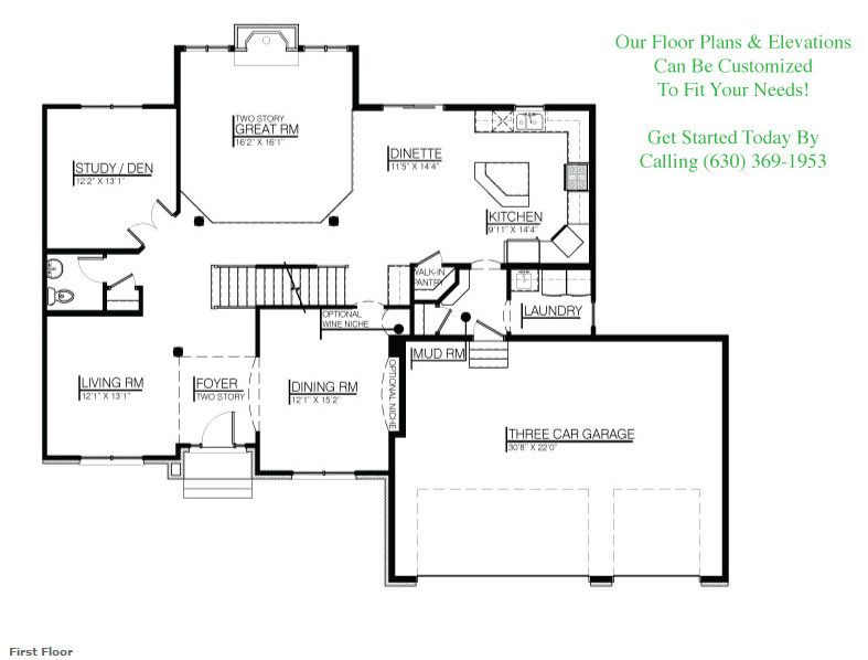 Image of The Karson custom floorplan, floor 1