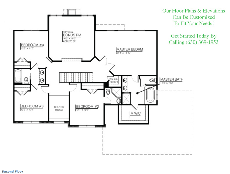 Image of the Karson custom floorplan, floor 2