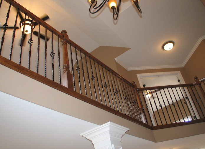 View from the entryway into the second floor in the Jonathan I floorplan from DJK Custom Homes