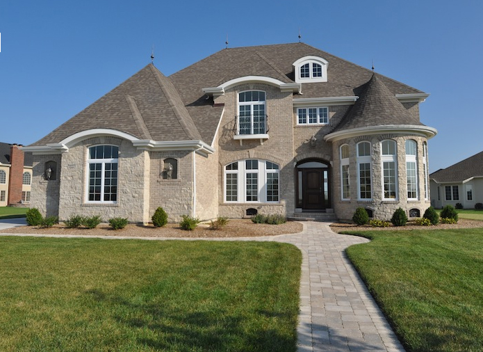 Exterior view of a customized house built using the Jonathan I floorplan, Plainfield, IL