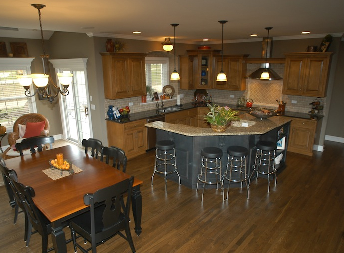 Kitchen in the Jonathan II floorplan, Plainfield, IL