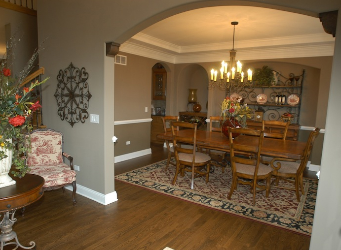Dining room in the Jonathan II floorplan, Stewart Ridge, Plainfield, IL