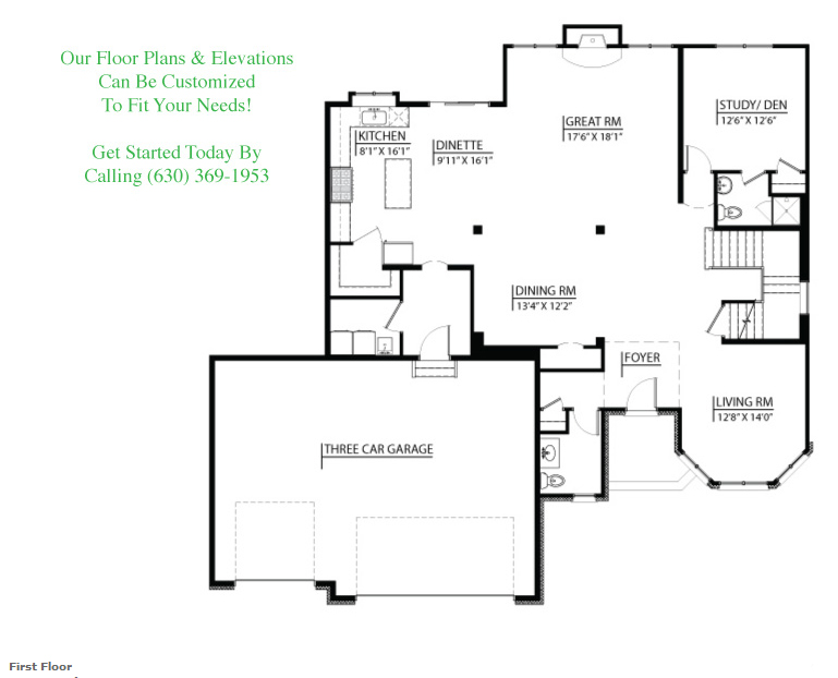 Tessa custom floorplan, floor 1