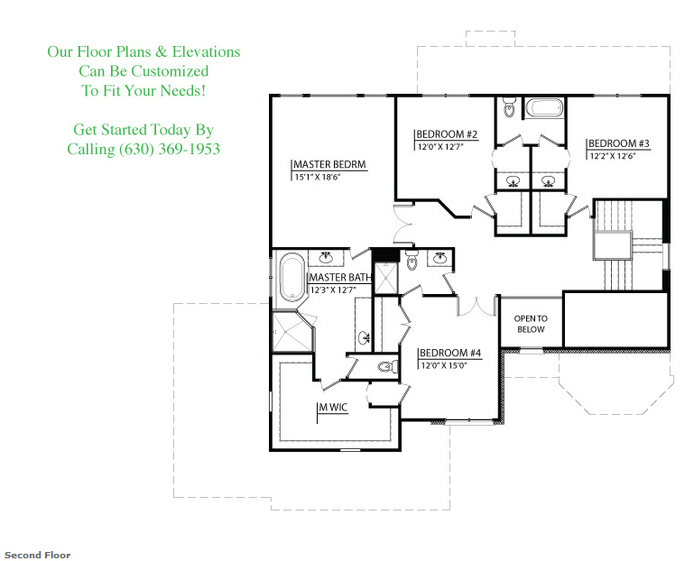 Tessa custom floorplan, floor 2